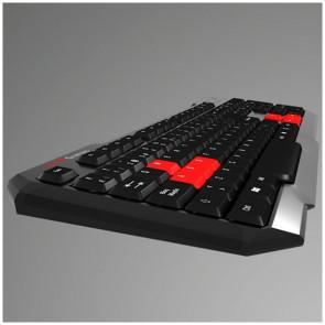 Tastiera per Giochi Tacens MAK0 USB Nero Rosso
