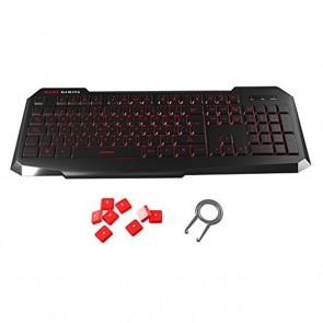 Tastiera per Giochi Tacens MK116 PRO USB Retroilluminato Nero Rosso