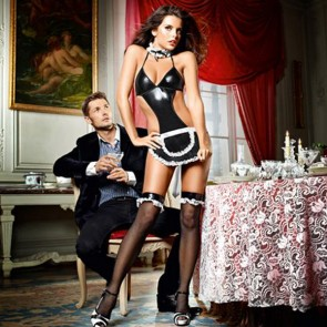 Completo Donna di Servizio Francese At Your Service Taglia Unica Baci Lingerie E25254