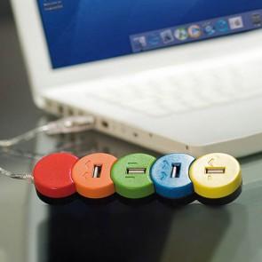 Hub USB 4 Porte Multicolore 149523
