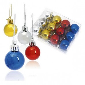 Palle di Natale (12 pcs) Metallizzato 143360