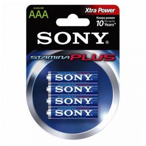 Batteria Alcalina Sony AM4L-B4D AM4L-B4D 1,5 V AAA (4 pcs) Azzurro Verde