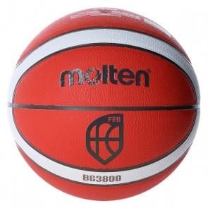 Pallone da Basket Molten B6G3800 Pelle Sintetica (Taglia 6)