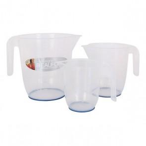 Caraffa Dosatrice Plastica 0,5 l - 1 l - 2 l (3 Uds)
