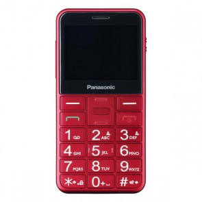 Cellulare per anziani Panasonic Corp. KX-TU150 TFT LCD Dual SIM Rosso
