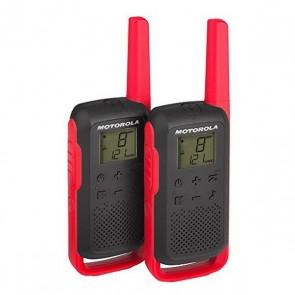 Walkie-Talkie Motorola T62 LCD 8 Km (2 pcs) Nero Rosso