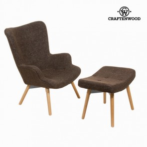 Sedia con poggiapiedi by Craftenwood