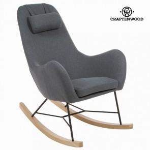 Sedia a Dondolo Stoffa Grigio by Craftenwood