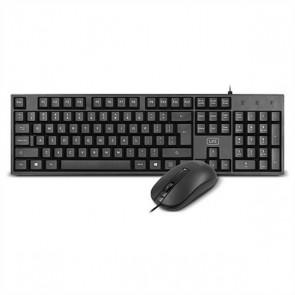 Tastiera e Mouse Ottico 1LIFE 1IFEKBCOREKITES USB Nero