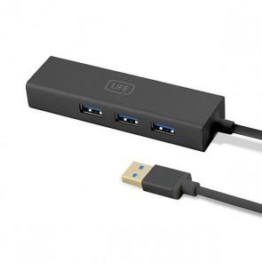 Hub USB 3 Porte 1LIFE 1IFEUSBHUB3 USB 3.0 Nero