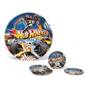 Set di 5 Piatti Hot Wheels Cartone 113660