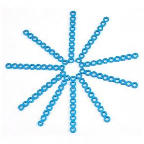 Connettore Corto Ritagliabile Makeblock 8 cm Azzurro (10 Uds)