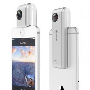 Videocamera a 360° per Smartphone Insta360 Micro SD iOS 8+ Argentato