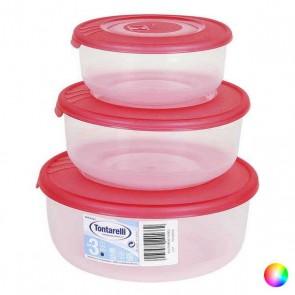 Set di 3 scatole porta pranzo Tontarelli (0,5 - 1 - 2 L)