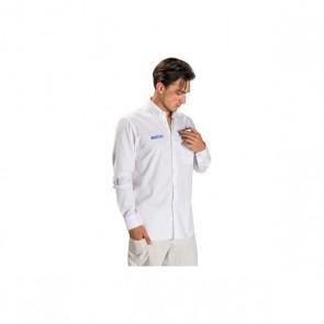 Camicia a Maniche Lunghe Uomo Sparco Bianco (Taglia S)