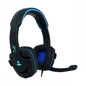 Auricolari con Microfono Gaming Ewent PL3320 Nero Azzurro