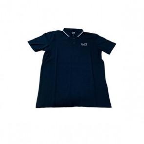 Polo a Maniche Corte Uomo Armani Jeans 3GPF51 Blu marino