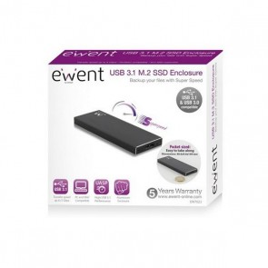 Scatola Esterna Ewent EW7023 SSD M2 USB 3.1 Alluminio
