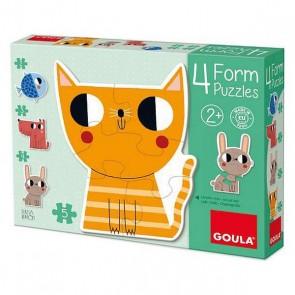 Puzzle Animali Diset (14 pcs)