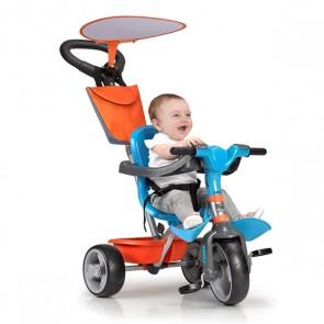 Triciclo Feber Baby Plus Music Azzurro Arancio