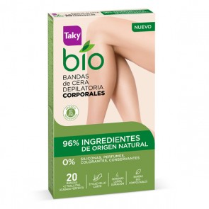 Strisce Depilatorie Corpo Bio Natural Taky (20 uds)