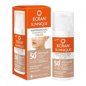 Fluido Solare Antimacchie Ecran Sunnique Color Ecran Spf 50+ (50 ml)