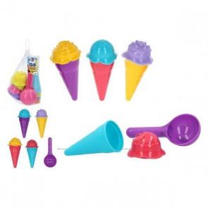 Set di giocattoli per il mare Ice Cream Color Beach (9 pcs)