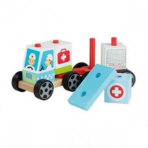 Ambulanza 11 pcs Legno (18+ mesi)