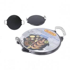 Piastra da Cucina 2 In 1 Rayen Ferro fuso Rotund (ø 25,6 x 2 cm)