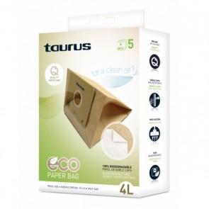 Sacchetto di Ricambio per Aspirapolvere Taurus 999.193 2L Marrone