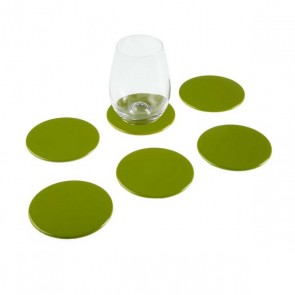 Sottobicchieri Verde polipropilene (6 pcs)