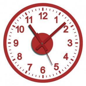 Orologio da Parete Adesivo Rosso