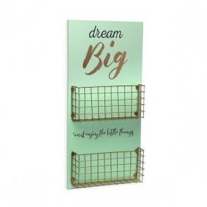 Decorazione da Parete Dream Big Legno MDF/Metallo (5 x 50 x 24 cm)