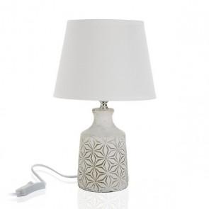 Lampada da Tavolo Ceramică Tessile (20 x 32 x 20 cm)