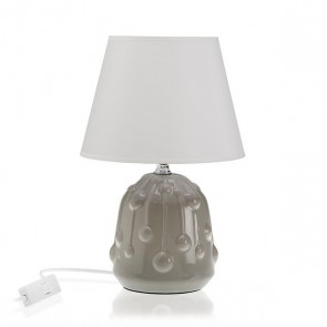 Lampada da Tavolo Ceramică Tessile (18 x 28 x 18 cm)