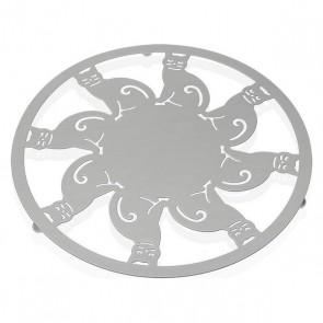 Sottopentola Metallo (22 x 1 x 22 cm) Bianco
