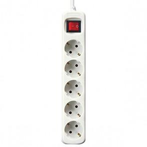 Multipresa 5 Prese con Interruttore Silver Electronics Bianco