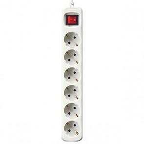 Multipresa 6 Prese con Interruttore Silver Electronics Bianco