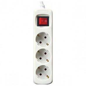 Multipresa con 3 Prese con Interruttore Silver Electronics 3680W Bianco