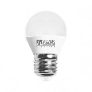 Lampadina LED Sferica Silver Electronics 960727 E27 7W Luce calda