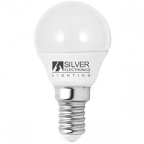 Lampadina LED Sferica Silver Electronics Eco E14 5W Luce bianca