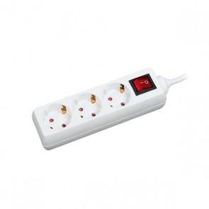 Multipresa con 3 Prese con Interruttore Silver Electronics Supra 9640 Bianco