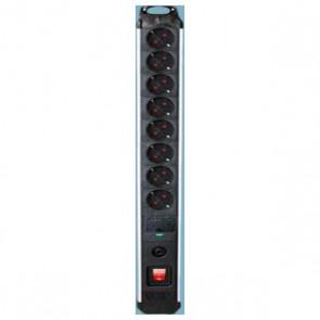 Multipresa 8 Prese con Interruttore Silver Electronics 3680W Nero