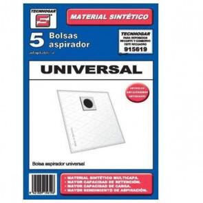 Sacchetto di Ricambio Universale per Aspirapolvere Tecnhogar 915619 (5 uds)