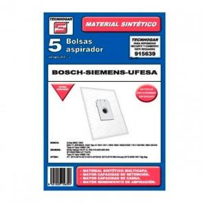 Sacchetto di Ricambio per Aspirapolvere Tecnhogar 915639 (5 uds)