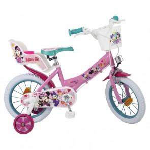 """Bicicletta per bambini Minnie Mouse 14"""" Rosa"""