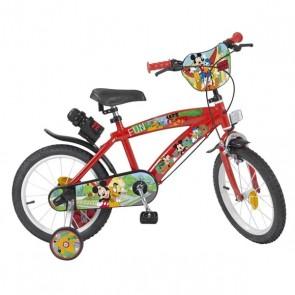 """Bicicletta per bambini Mickey Mouse 14"""" Rosso"""