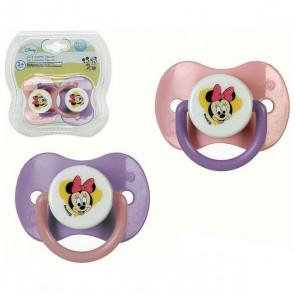 Set di Succhietti in Silicone Minnie Mouse Disney +0M 119193 (2 uds)