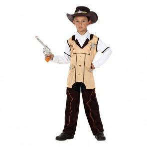 Costume per Bambini 118917 Sheriff Nero Beige (3 Pcs)