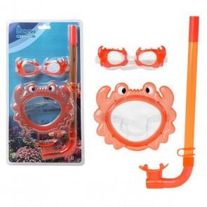 Occhialini da Snorkeling e Boccaglio per Bambini 115098 Arancio